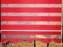 Kırmızı Zebra Perde | Perde | Stor Perde