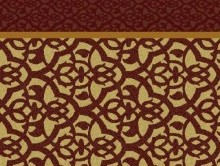 Koridor ve Bordürlü Halılar BORDO KAHVE | Duvardan Duvara Halı