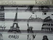 Paris Roma Baskılı Zebra Perde | Perde | Stor Perde